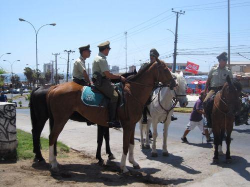 Carabinieros on caballos
