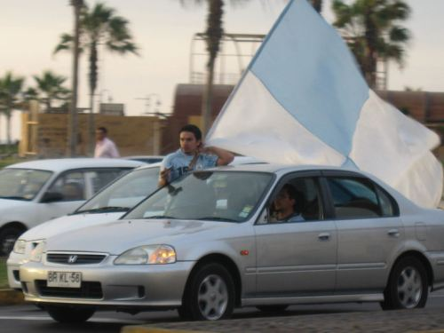 Iquique Dragon supporters