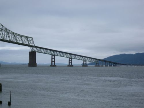 The Astoria bridge to Cape Disappointment. Hard times for someone.