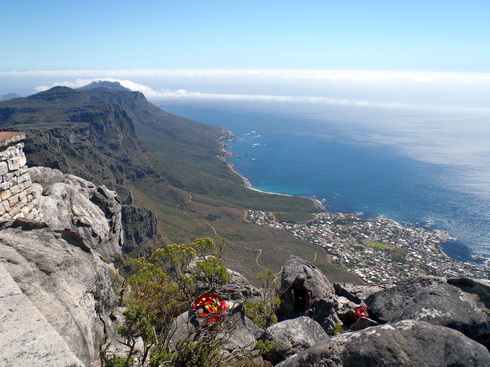 Looking down the Cape of Good Hope.