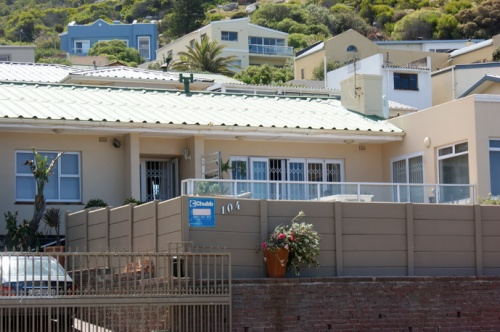 Typical Simons Town/Cape Town house. Most houses have 5 more runs of electrical wire to slow down the intruders.