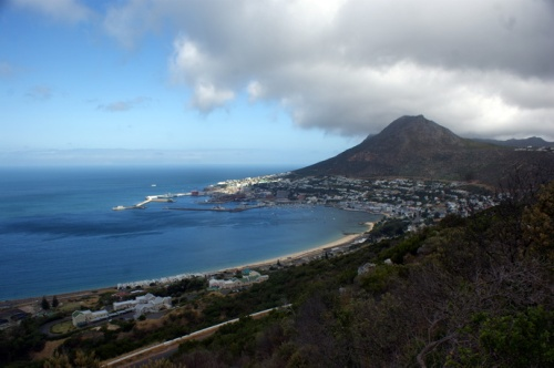Simons Town harbour on the Cape of Good Hope. I am there, somewhere.