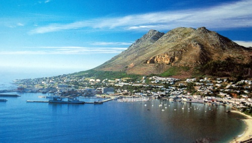Simons Town harbour on a rare calm day.