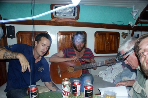 The boys jamming and drinking on la Rosa. I have only pathetic 3 harmonicas to add. Stored the piano a few days ago. Fun anyway.