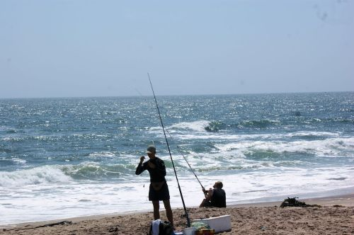 Where there is a sea coast, there are weekend fishermen.