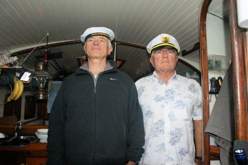 Able Seaman, Pete Ritchie, and el capitan.