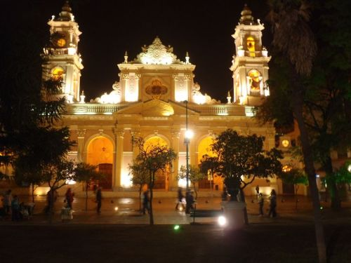 The grand cathedral of Salta, Argentina.