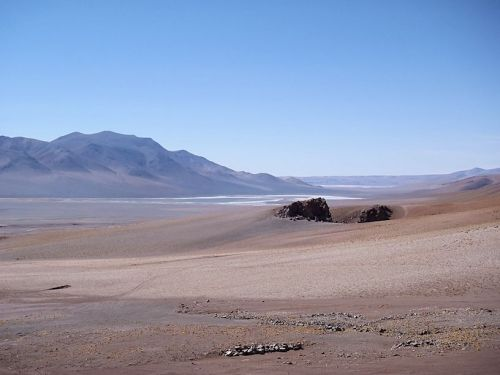 That lake is in Bolivia.