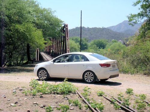 Paulie is a railroader and is not ascared to park his rental car on  the tracks. Well, these tracks.